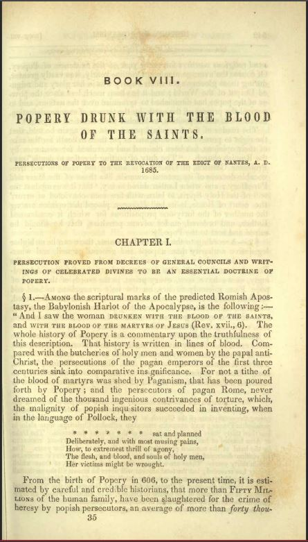 Popery Drunk With The Blood Of The Saints